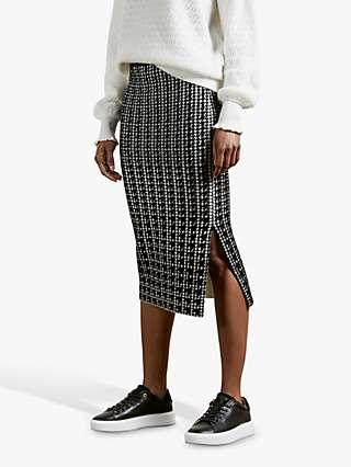 Ted Baker Atlassy Atlas Jacquard Skirt, Black