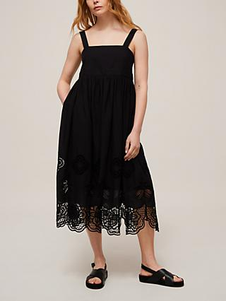 See By Chloé Embroidered Summer Cotton Dress, Black