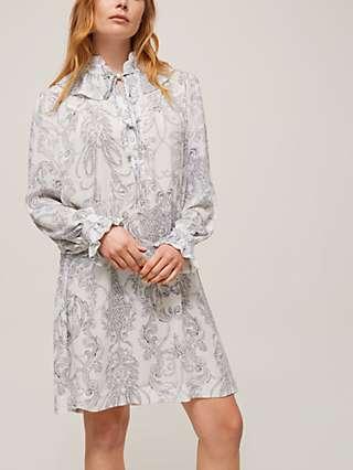 See By Chloé Paisley Print Dress, White/Black