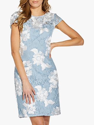 Adrianna Papell Soutache Lace Sheath Mini Dress