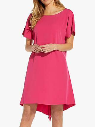 Adrianna Papell High Shift Mini Dress, Super Pink
