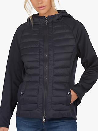 Barbour Nethercote Padded Hybrid Jacket, Navy