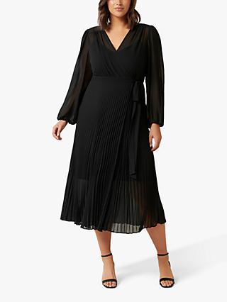 Forever New Curve Penelope Wrap Dress, Black