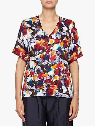 PS Paul Smith Floral Print V-Neck Top, Multi