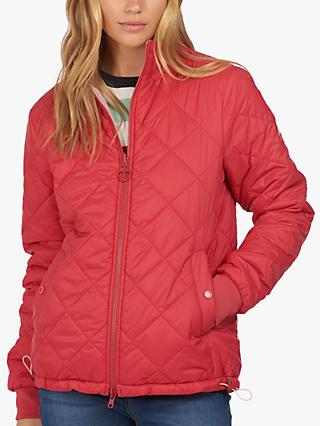 Barbour Southport Reversible Quilted Jacket, Red