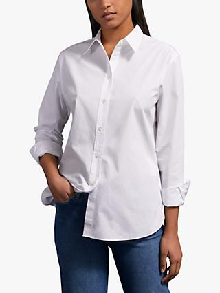 Jigsaw Poplin Loose Fit Shirt, White