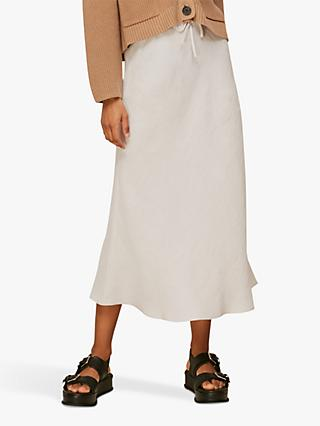 Whistles Linen Bias Cut Skirt