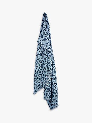 hush Regan Organic Cotton Leopard Print Scarf