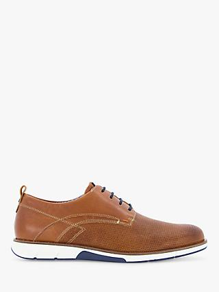 Dune Balad Punch Hole Casual Shoes, Tan