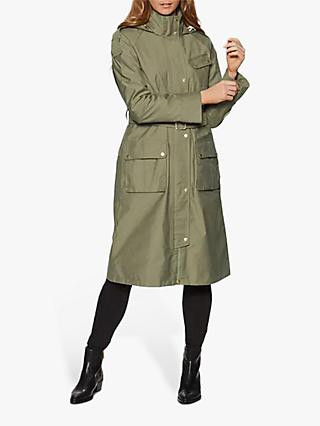 Barbour International Qualify Waterproof Trench Coat, Light Army