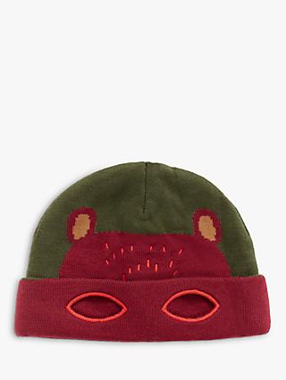 White Stuff Children's Bear with Me Hat, Green