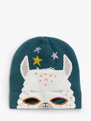 White Stuff Children's Fa La La Llama Hat, Teal