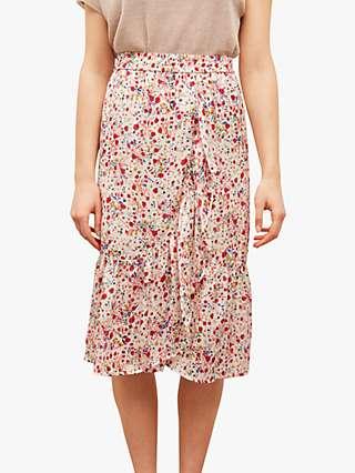 Gerard Darel Jupe Floral Print Skirt, Multi