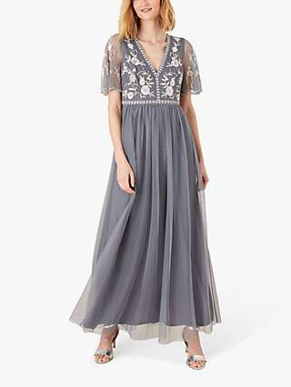 Monsoon Caterina Maxi Dress, Blue