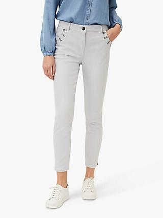 Phase Eight Sofiya Embellished Pocket Jeans, Pale Blue