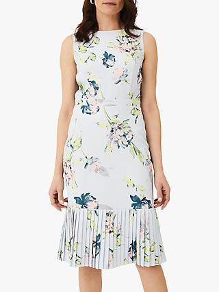 Phase Eight Farah Floral Knee Length Dress, Mineral/Multi
