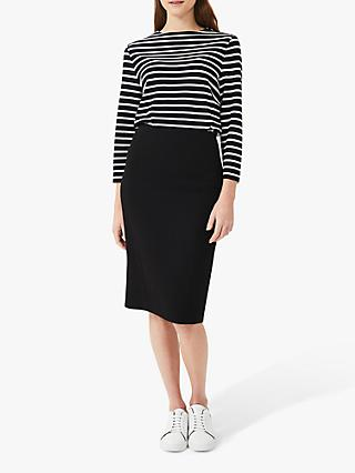 Hobbs Ophelia Knee Length Skirt, Black