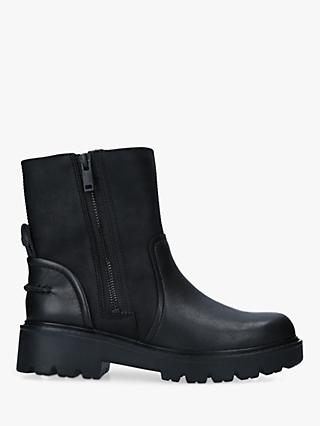 UGG Polk Leather Biker Boots, Black