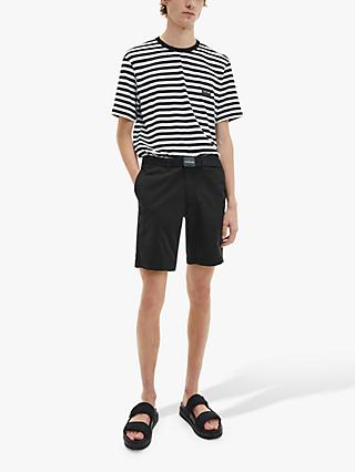 Calvin Klein Garment Dyed Belted Shorts