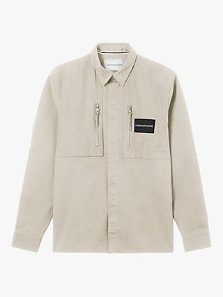 Calvin Klein Jeans Mixed Media Overshirt, String