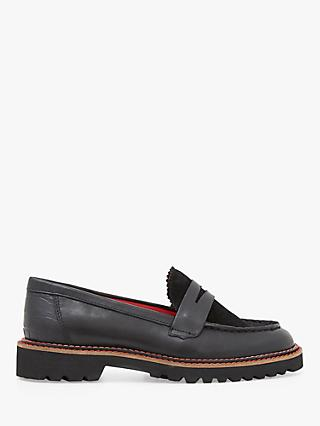White Stuff Alpine Leather Loafers, Pure Black