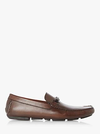 Dune Beacons Leather Loafers, Dark Brown