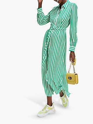 Tommy Hilfiger Stripe Belted Shirt Dress, Banker Stripe/Primary Green