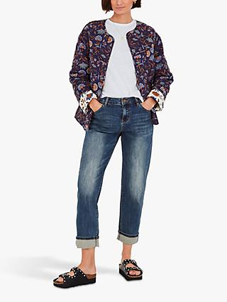 hush Orna Paisley Floral Quilted Jacket, Multi
