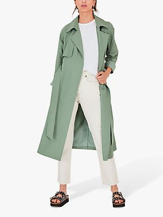 hush Verna Trench Coat, Sage