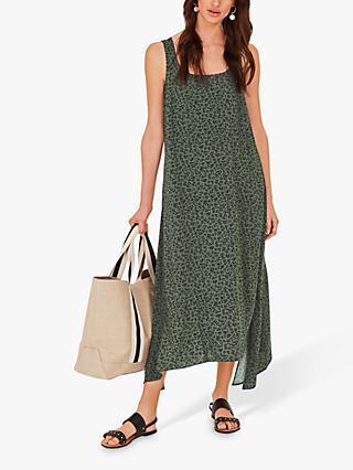 hush Albee Animal Print Midi Dress, Khaki