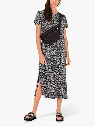 hush Jamie Leopard T-Shirt Dress, Grey