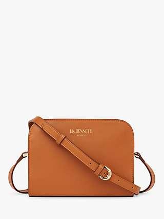 L.K.Bennett Marie Leather Cross Body Bag, Tan