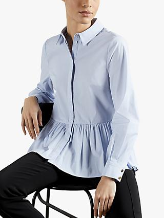 Ted Baker Ollwen Frill Peplum Top, Light Blue