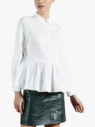 Ted Baker Cannan Frill Shirt, White