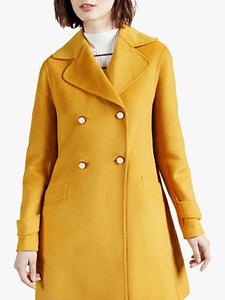 Ted Baker Blankaa Longline Pea Coat, Yellow