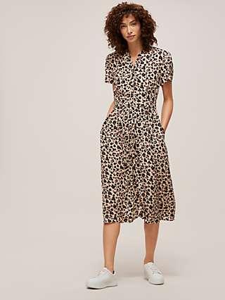 Somerset by Alice Temperley Powder Leopard Shirt Dress, Multi