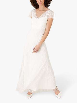 Monsoon Marilyn Embellished Bridal Maxi Dress, Ivory