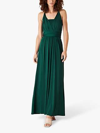 Monsoon Tallulah Dress, Dark Green
