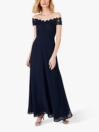 Monsoon Dawn Lace Maxi Dress, Navy