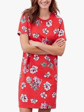 Joules Liberty Print A-Line Dress, Red Floral
