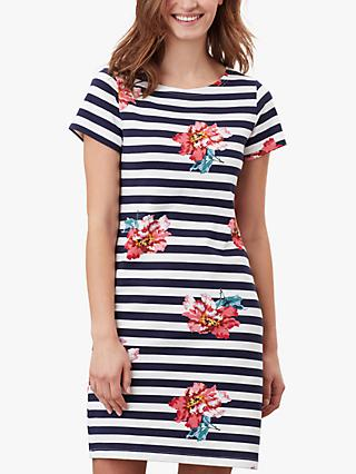 Joules Riviera Print Dress, Cream/Floral