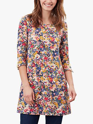 Joules Hayden Busy Floral Tunic Dress, Blue/Multi
