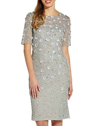 Adrianna Papell Floral Beaded Cocktail Dress