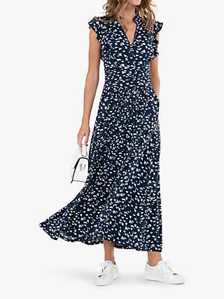 Jolie Moi Frill Detail Maxi Dress