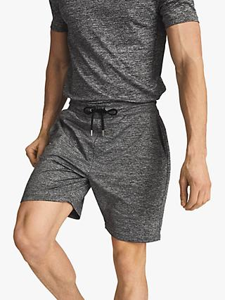 Reiss Vimo Melange High Stretch Jersey Shorts, Charcoal
