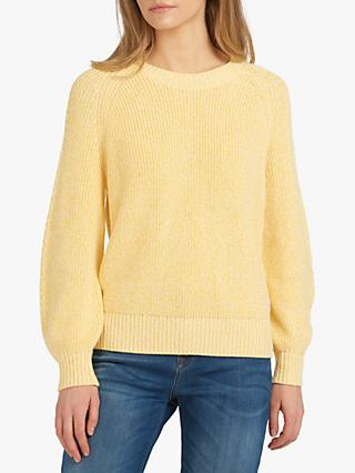 Barbour Fogle Wilderness Adeline Ribbed Jumper, Yellow
