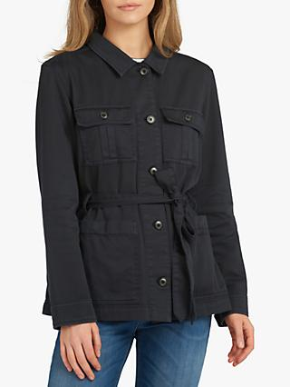 Barbour Fogle Wilderness Adeline Casual Cotton Utility Jacket, Navy