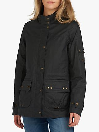 Barbour Fogle Wilderness Adeline Waxed Jacket, Dusk