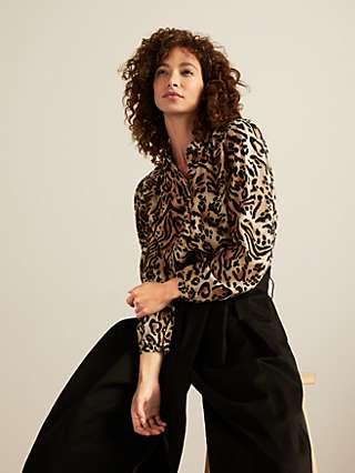 Somerset by Alice Temperley Mirror Leopard Shirt, Multi