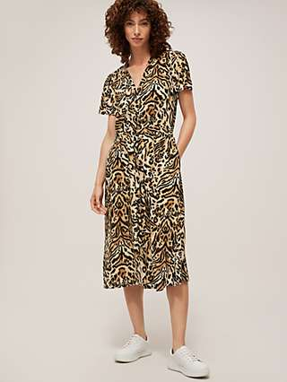 Somerset by Alice Temperley Mirror Leopard Shirt Dress, Multi